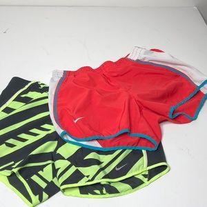 Nike dri-fit running shorts lot of 2 sz S/XS